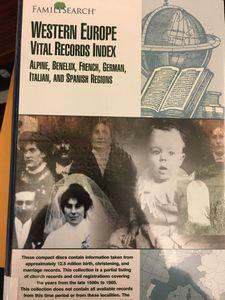 Vital Records Index - Western Europe - Birth, christening
