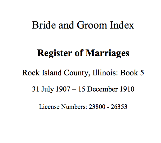 marriages and rock island illinois